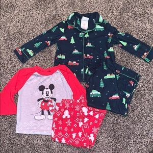 Baby Boys Holiday Pj Set Bundle SZ.2T
